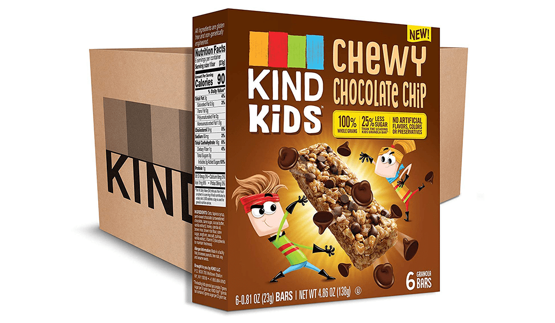 Amazon | BEST PRICE + SUBSCRIBE & SAVE: Kind Kids Chewy Chocolate Chip Bars