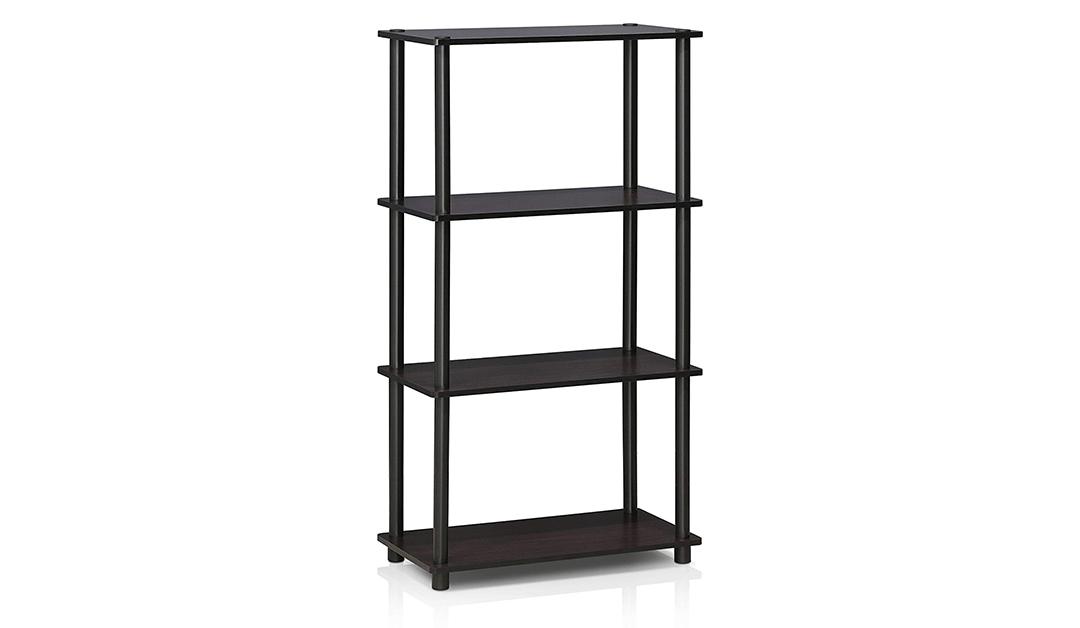 Amazon | BEST PRICE: 4-Shelf Multipurpose Display Rack, Dark Walnut