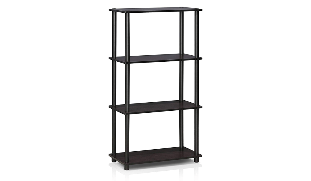 Amazon | BEST PRICE: 4-Shelf Multipurpose Display Rack, Dark Walnut