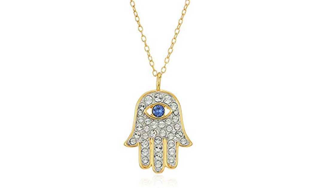 51947a48f53f8 Amazon | BEST PRICE: 18k Yellow Gold Plated Sterling Silver Blue and ...