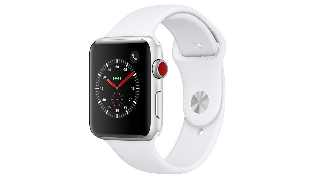 Amazon | BEST PRICE: Apple Watch Series 3 (GPS + Cellular, 42mm) – Silver Aluminium Case with White Sport Band