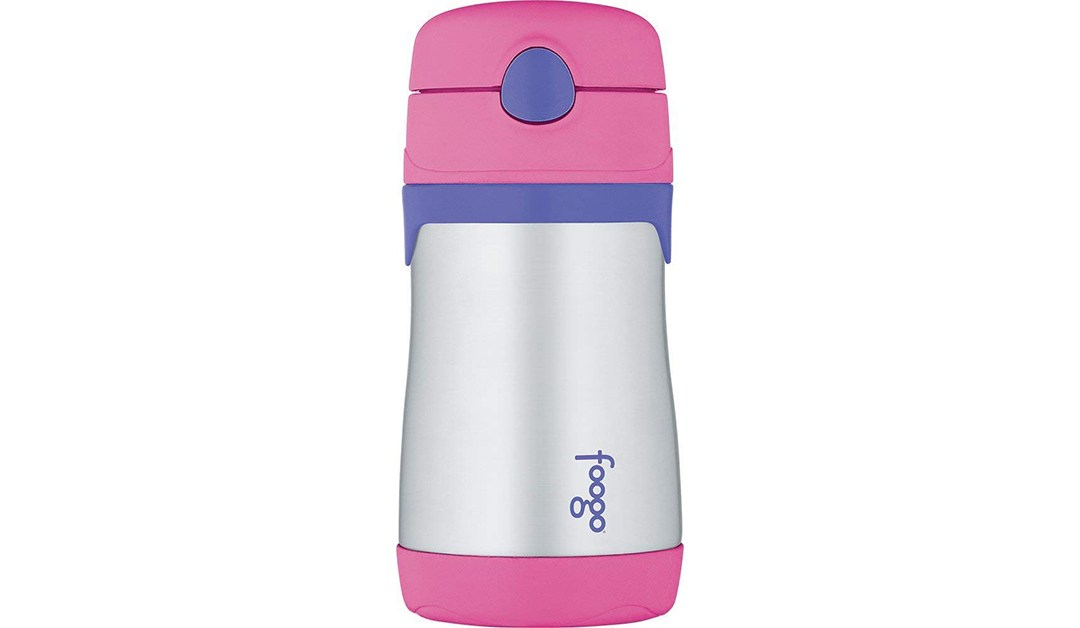 Amazon | GOOD DEAL + ADD ON: 10oz Thermos Foogo Straw Bottle