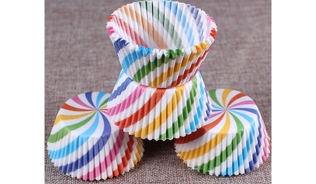 Amazon | BEST PRICE: Rainbow Style Baking Liners