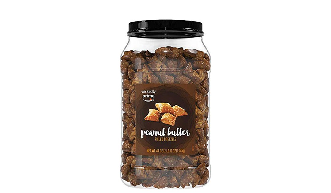 Amazon | BEST PRICE + SUBSCRIBE & SAVE: Wickedly Prime Peanut Butter Filled Pretzels