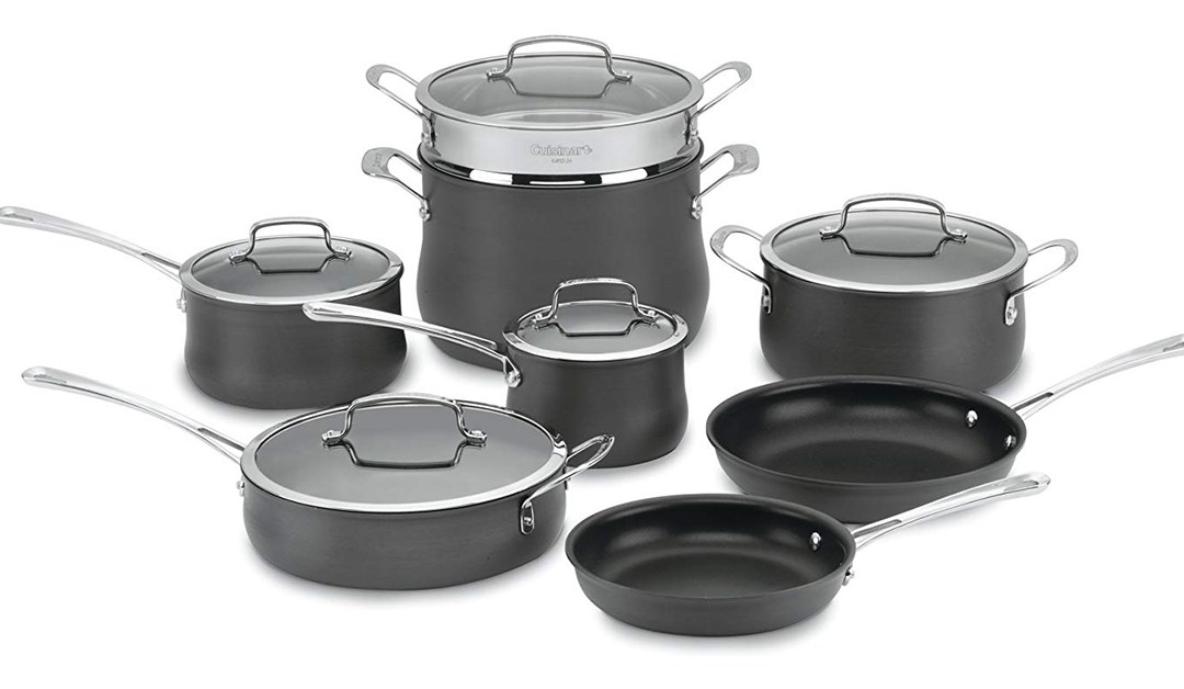 Amazon | BEST PRICE: Cuisinart 64-13 Contour Hard Anodized 13-Piece Cookware Set