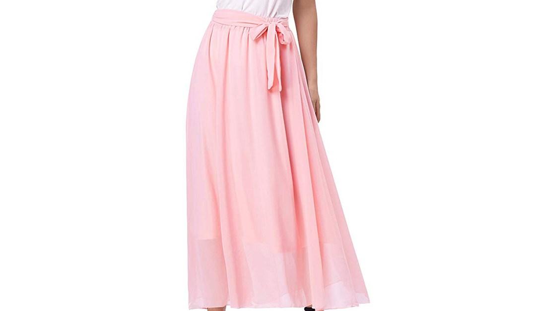 Amazon | BEST PRICE + COUPON: Grace Karin Chiffon Beach Skirt