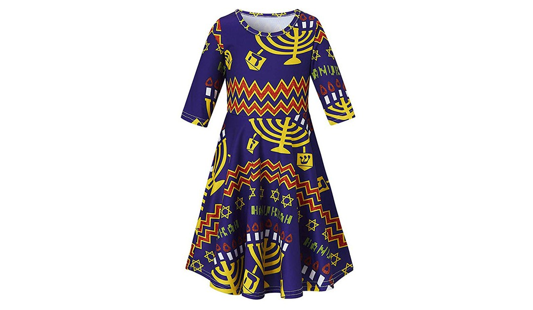 Amazon | BEST PRICE: Long Sleeve Hanukkah Dress