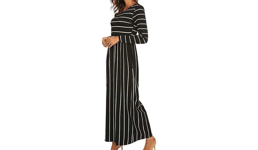 Amazon | BEST PRICE + COUPON: Hount Women Stripped Dress