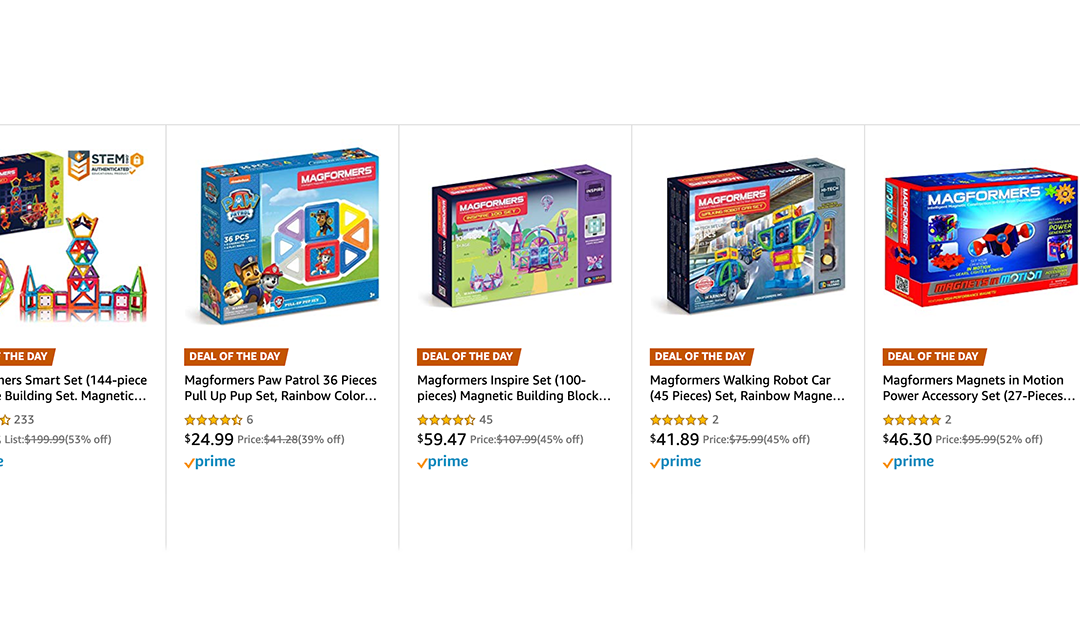 Amazon | DEAL OF THE DAY: Magnaformers Magnetic Tiles