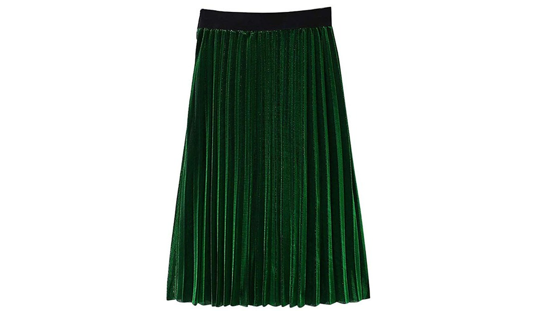 Amazon | BEST PRICE + COUPON: Pleated Skirt
