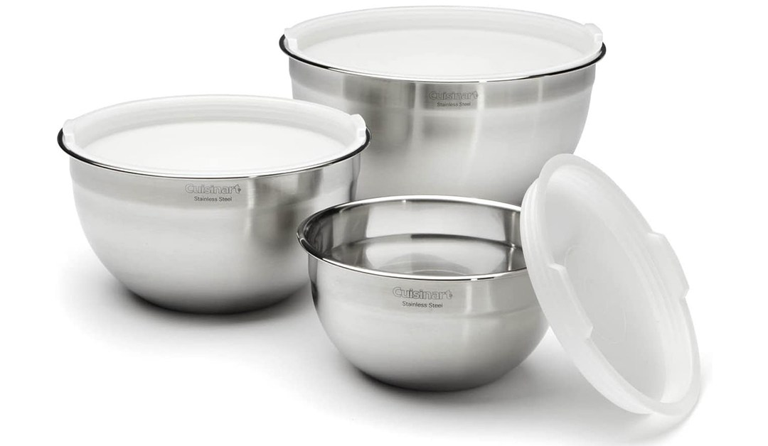 Amazon | GREAT DEAL: Cuisinart Mixing Bowl Set with Lids