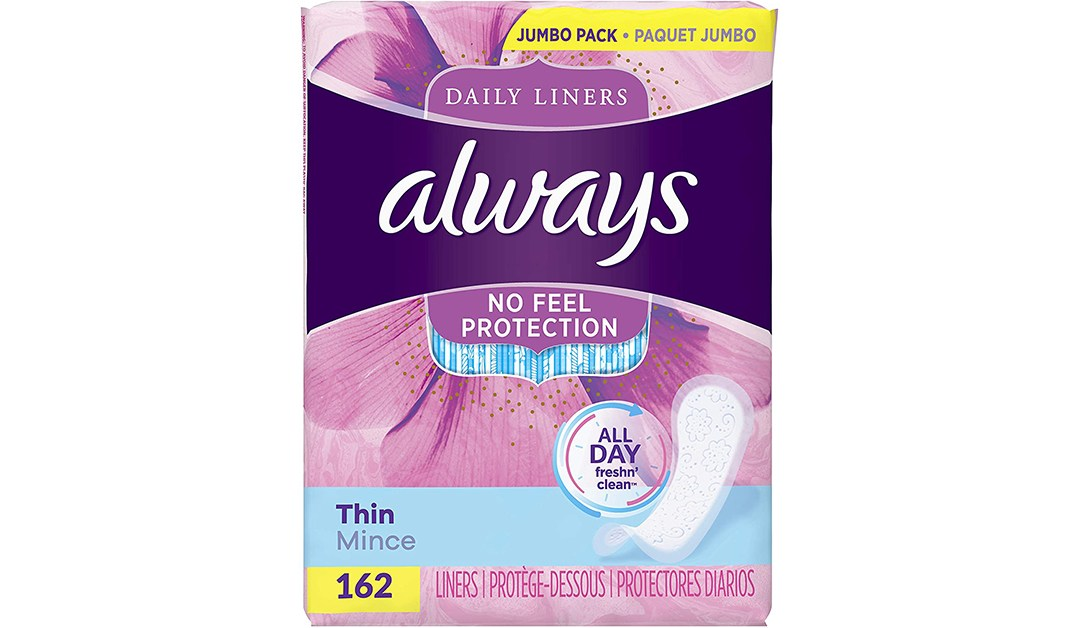 Amazon | BEST PRICE + COUPON: Always Thin Panty Liners