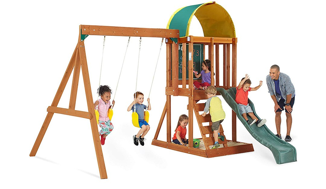Amazon | PRICE DROP: Backyard Wooden Playset