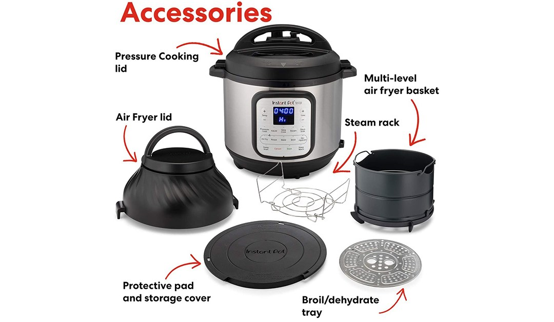 Amazon | BEST PRICE + #PrimeDay2020: Instant Pot Duo Crisp Pressure Cooker 11 in 1 with Air Fryer, 8 Qt