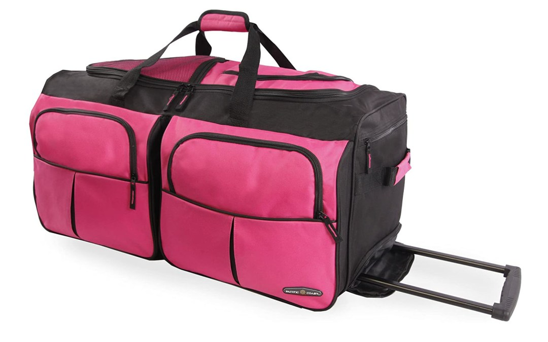 Amazon | BEST PRICE: Pacific Coast Signature 30″ Large Rolling Duffel Bag, Pink, One Size