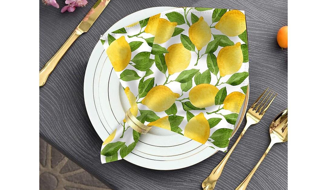 Amazon | BEST PRICE: Sukkot Find – Lemon Napkins
