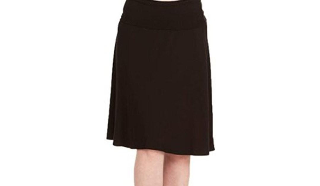 Amazon | BEST PRICE: Urban CoCo Women's Ruched Waist Stretchy Flared Yoga Skirt High Waist Midi Skirt for Women