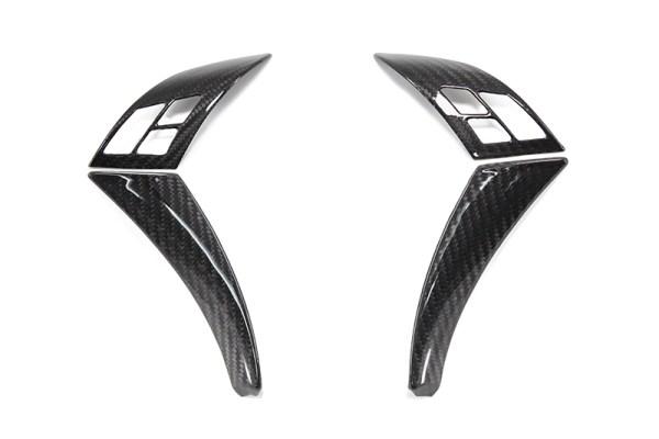 Carbon fiber BMW E60 E61 steering wheel set of decorative clips cover
