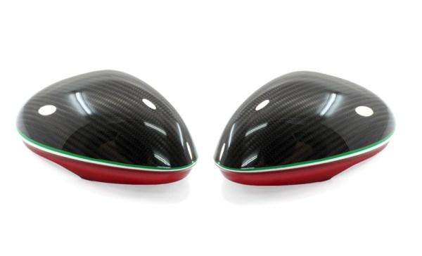 carbon fiber alfa romeo GIULIA veloce quadrifoglio verde qv calotte specchi