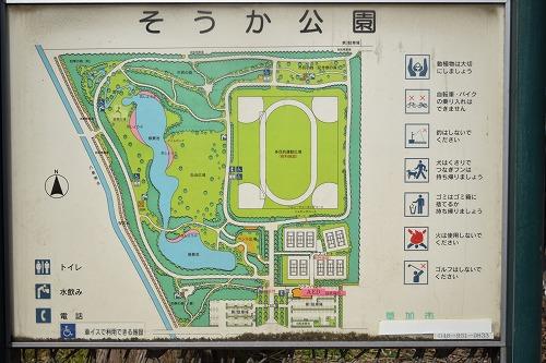 草加公園 案内図