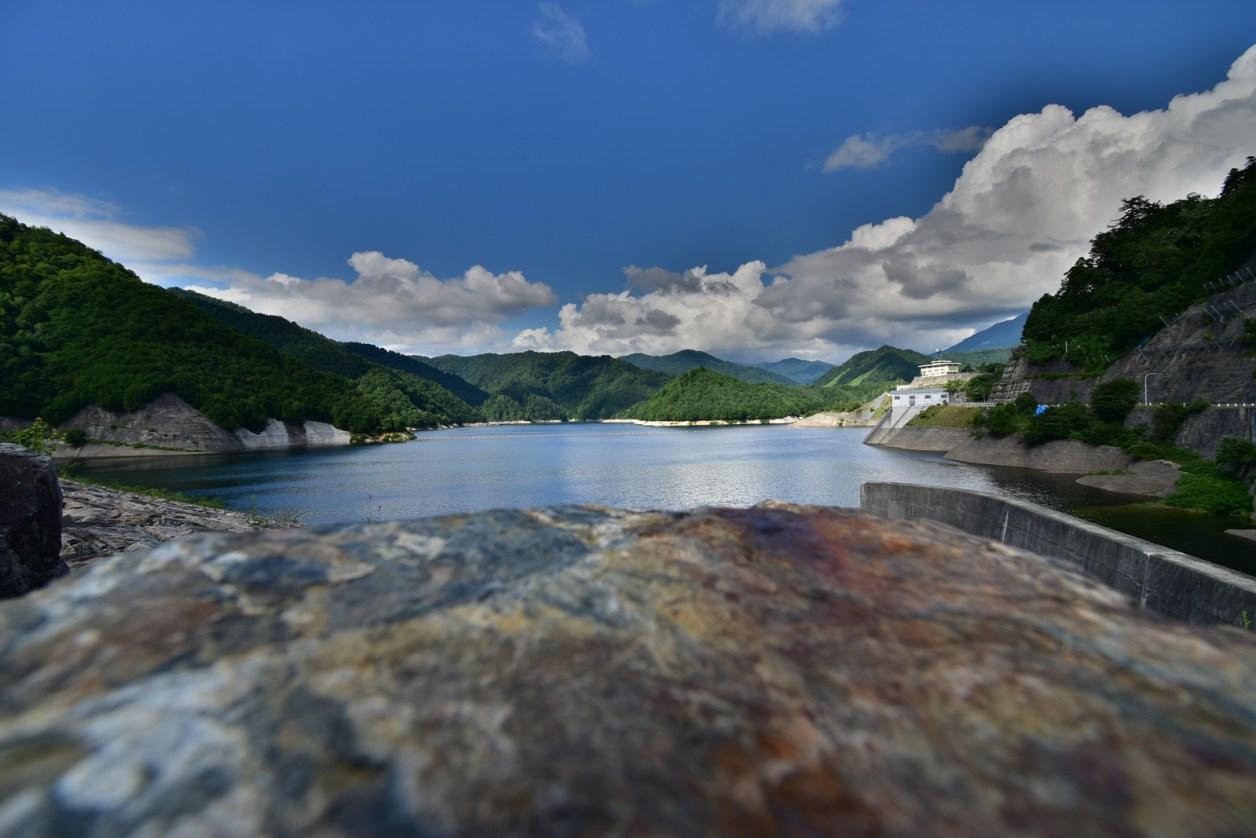 奈良俣ダム(ならまたダム)での撮影