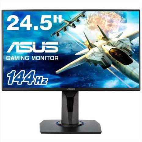 ASUSゲーミングモニター24.5型VG258Q(1ms/144HZ/HDMI 2ポート/DP/スリムベゼル/FreeSync/フリッカーフリー/スピーカー内蔵/ヘッドホン/昇降・ピボット/VESA)