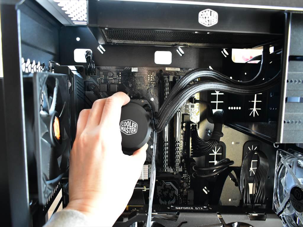 CPU水冷クーラーの取付
