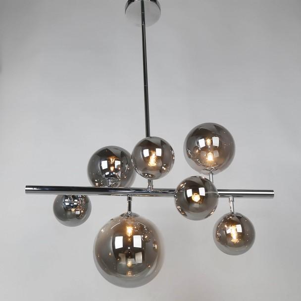 Rookglas bollen hanglamp  Chennai  KosiLampnl