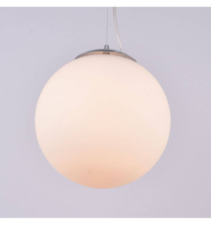 Hanglamp globe matglas wit  Bolla
