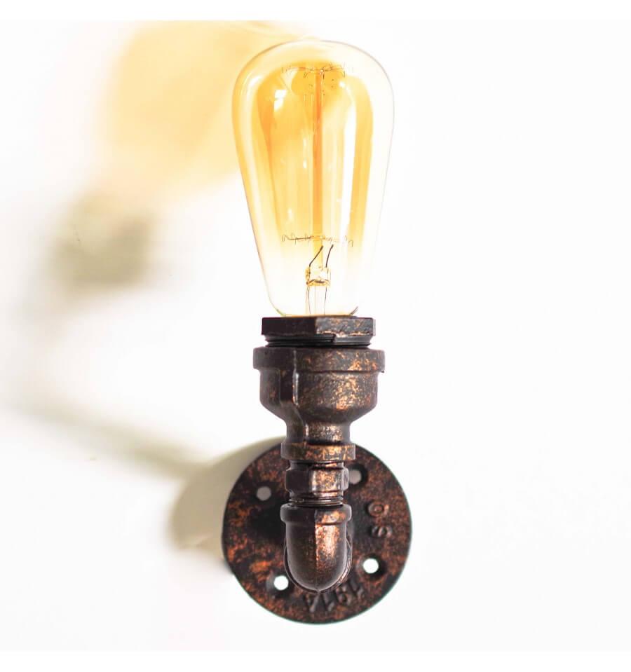 Zwarte wandlamp waterleiding  Filia  KosiLamp