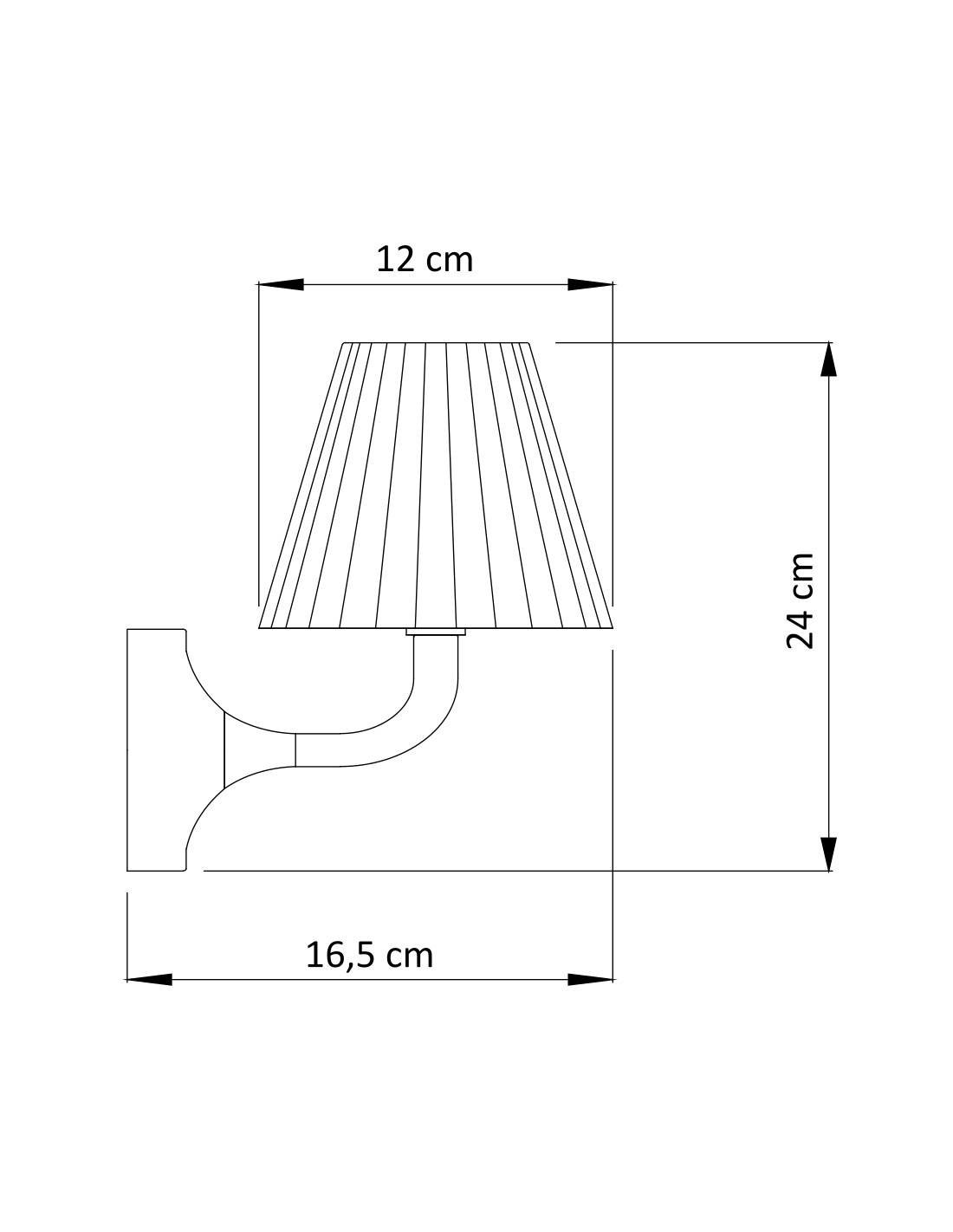 Retro Style Classy Glass Wall Lamp