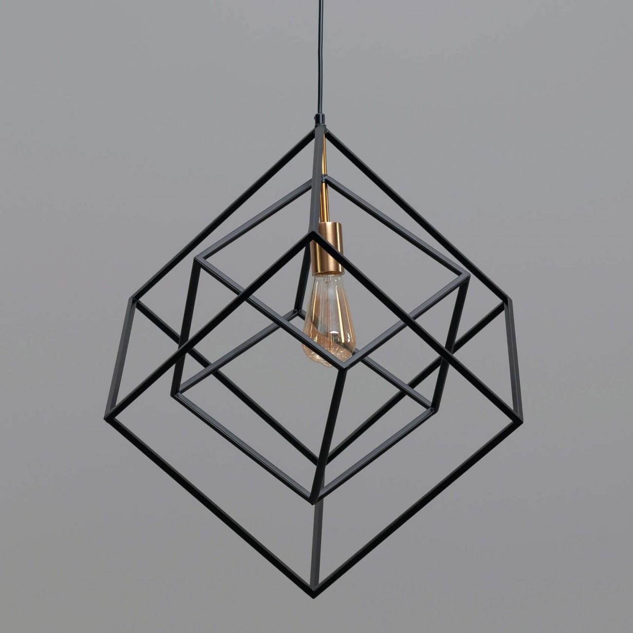 Interlocked Metal Framework Pendant Light