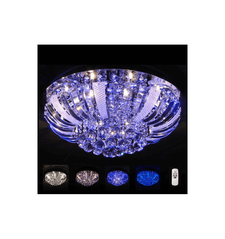 led tape kitchen rubbermaid trash can crystal ceiling light fitting | las vegas (60 cm)