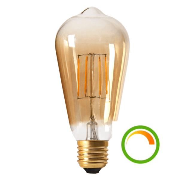 Lampadina vintage colore ambrato con filamento LED  E27