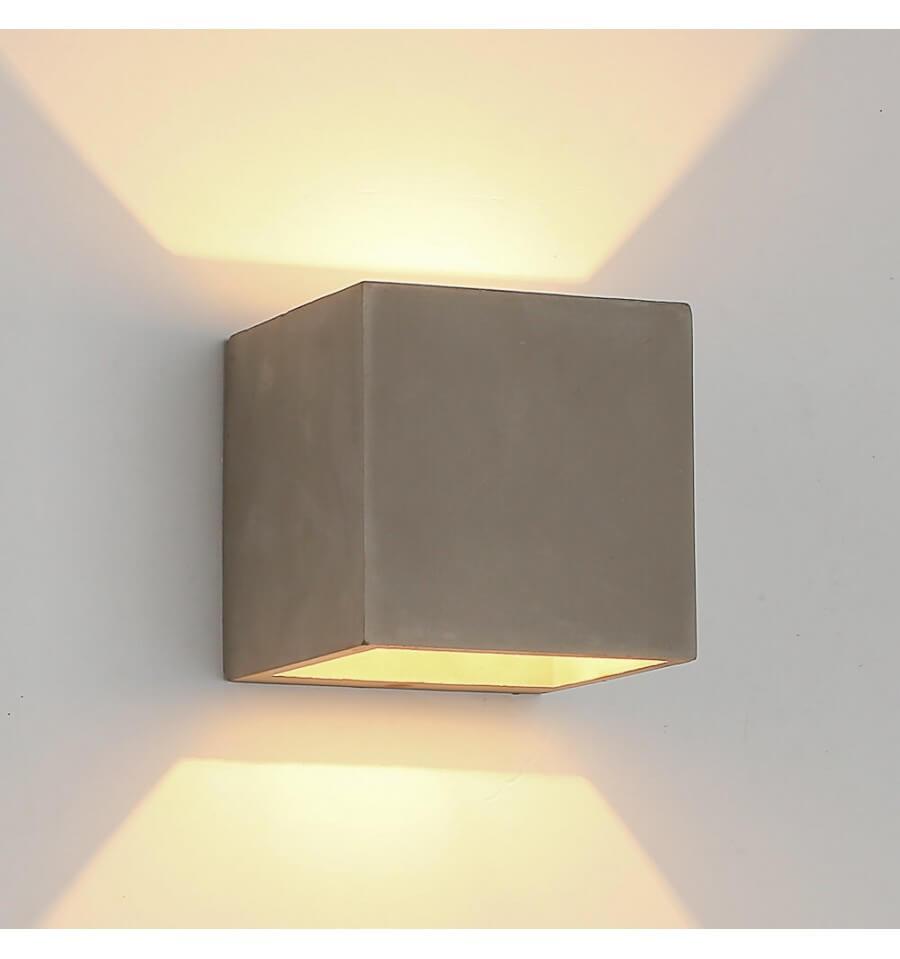 Lampada di bagno ed esterno in cemento grigrio  design