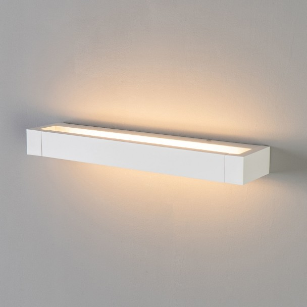 applique murale rectangulaire led angle ajustable 40 cm luqa