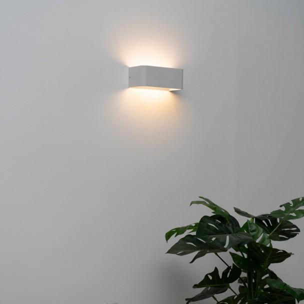 applique murale led blanc design quadra 6w 20cm