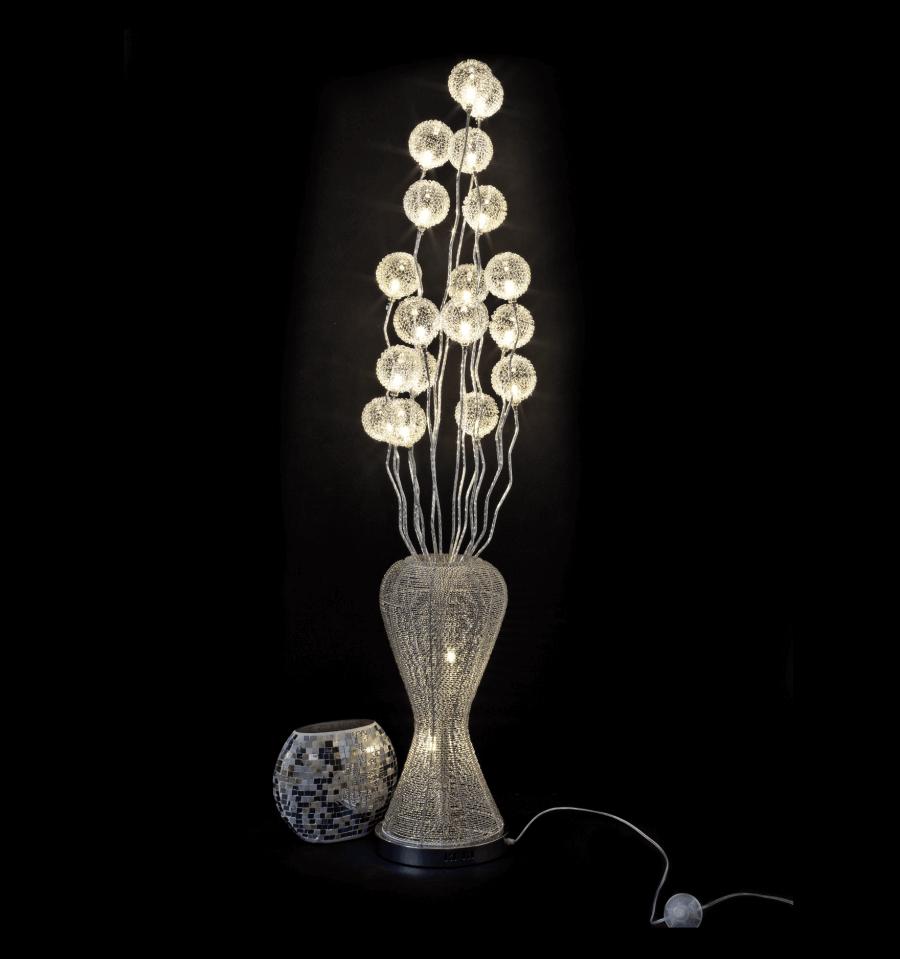 Grande lampe LED  Design vase argent