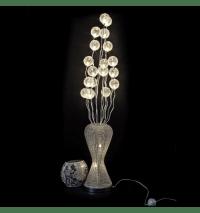 Grande lampe LED - Design vase argent