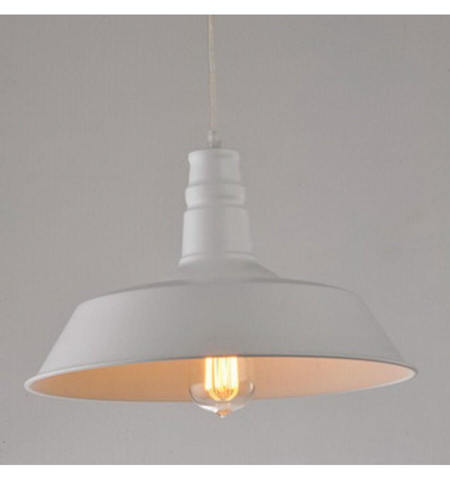 Suspension Industrielle Design Blanc Xena KosiLum