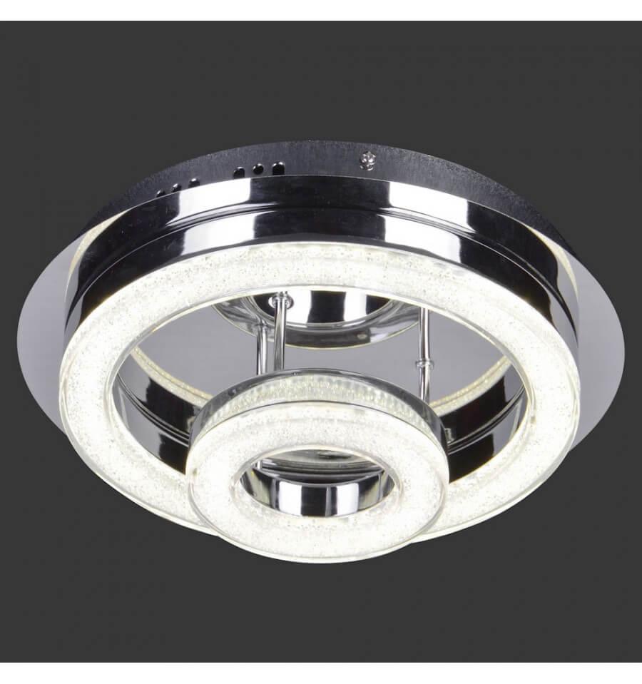 LED Plafonnier Lustre 2 Anneaux D28 Cm Planet