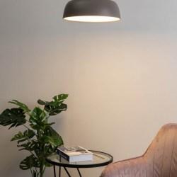 Plafón LED moderno de color gris oscuro Otis