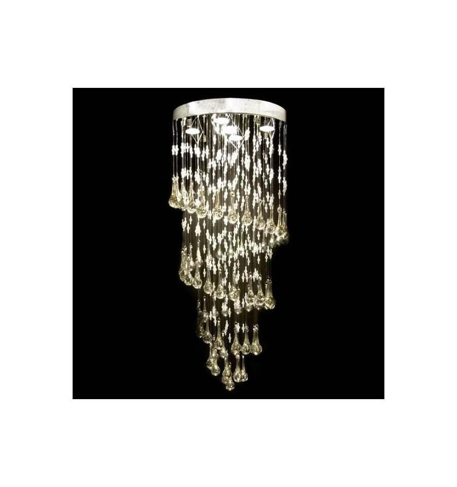 Lmpara de araa de cristal teido H100cm  Krakow