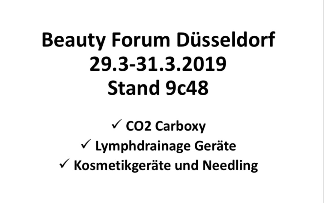Beauty Forum Düsseldorf 2019