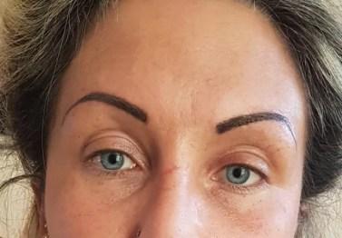 Augenbrauen dominant Vollschattur nachher