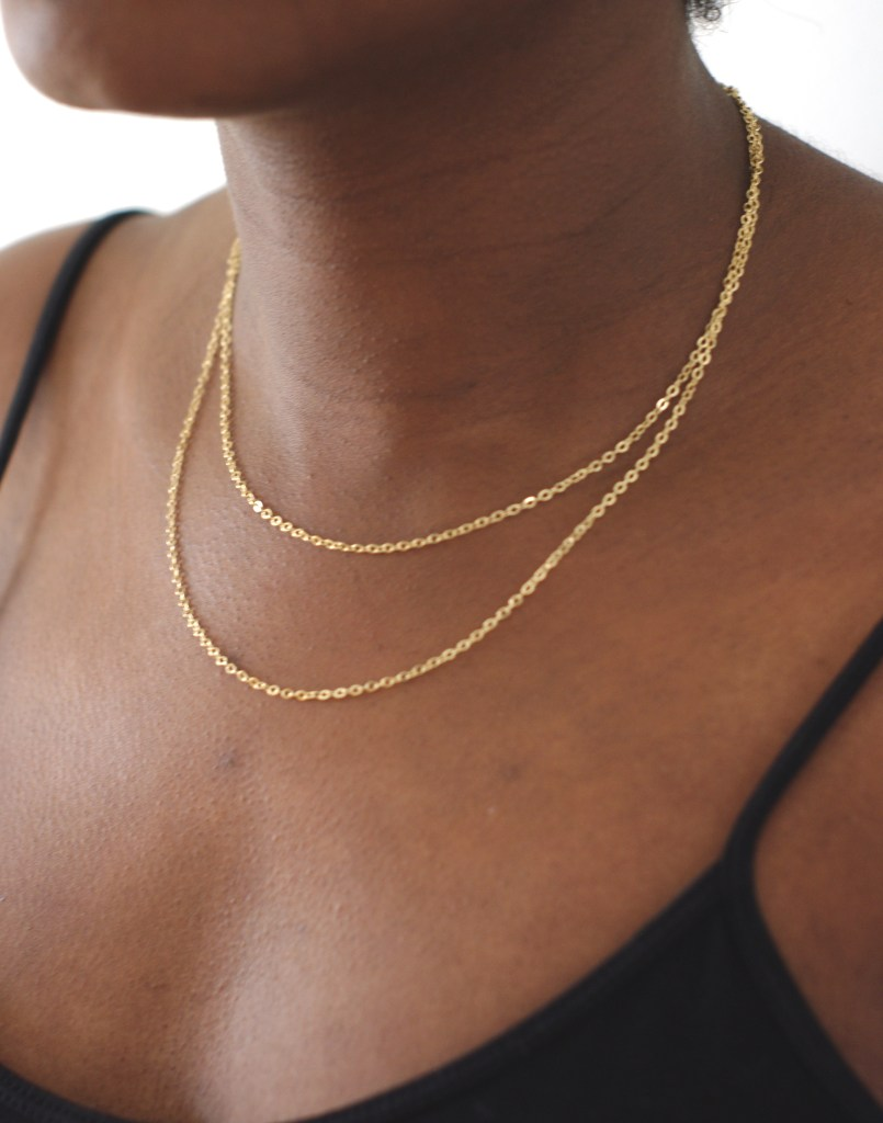 Chaine double or 18k