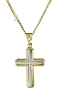 Βαπτιστικός Σταυρός Χρυσός 9 Καράτια
