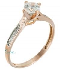 Δαχτυλίδι Ροζ Χρυσό 9 καράτια