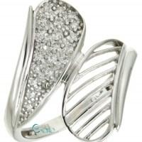 Δαχτυλίδι Λευκόχρυσο 9 καράτια