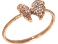 GREGIO Δαχτυλίδι από Ροζ Χρυσό 9 καράτια